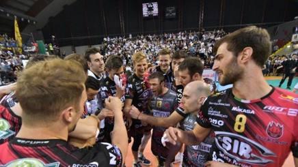 L'esultanza dei giocatori di Perugia