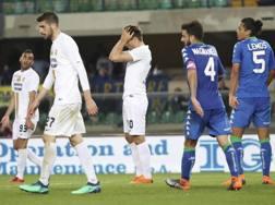 Un'immagine di gioco di Verona-Sassuolo (0-1)