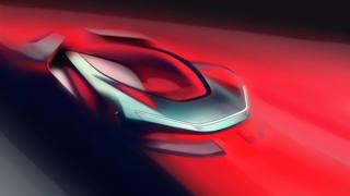 Il bozzetto di una super car in progettazione by Automobili Pininfarina