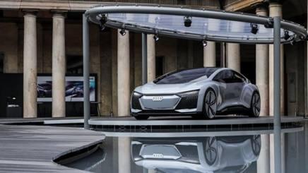 Uno scorcio dell'Audi City Lab  di Milano