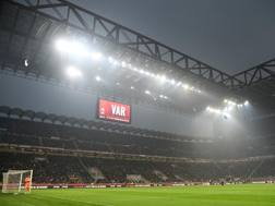 San Siro durante l'ultimo derby. Getty