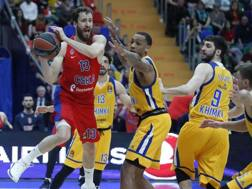 Sergio Rodriguez show contro il Khimki. Epa