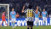 Marcelo Estigarribia dopo il gol alla Juve