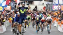 Il successo di Alejandro Valverde alla Liegi 2017. Bettini