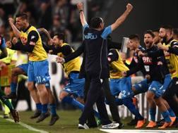 Il tecnico del Napoli, Maurizio Sarri. LaPresse