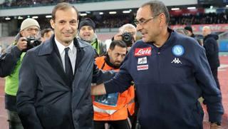 Massimiliano Allegri e Maurizio Sarri. Getty Images