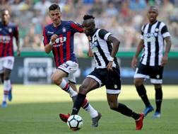 Un momento del match tra Udinese e Crotone. Ansa