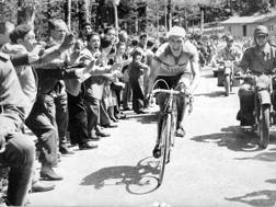 Gino Bartali sull'Abetone nel 1952