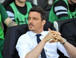 Il tecnico dell'Udinese Massimo Oddo. LaPresse