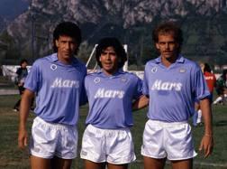 Careca, Diego Armando Maradona e Alemao: i punti di forza del Napoli scudetto 1990. LaPresse