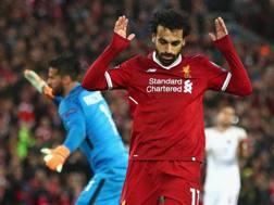Momo Salah non esulta dopo i gol all'ex squadra. Getty