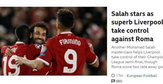 La stampa estera celebra il Liverpool