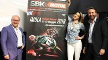 Una fase della presentazione del GP 2018 di Superbike a Imola