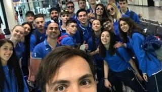 Gli azzurri in partenza per Atene