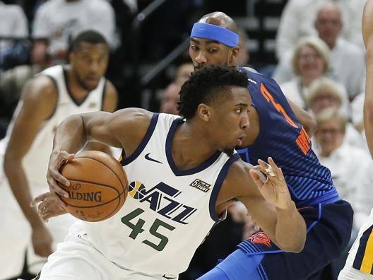 Donovan Mitchell , 33 punti per lui contro OKC: è record di punti per un rookie dei Jazz nei playoff