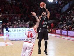 Pietro Aradori, 29 anni, guardia della Virtus Bologna, ha toccato quota 4000 punti in serie A CIAM
