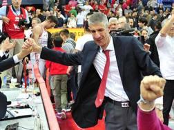 Ario Costa esulta dopo la vittoria su Milano. LaPresse
