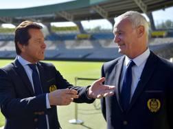 Il presidente del Nantes Waldemar Kita con Claudio Ranieri.
