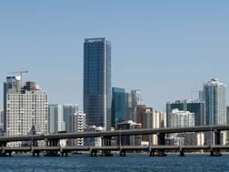 Una veduta di Miami. Afp