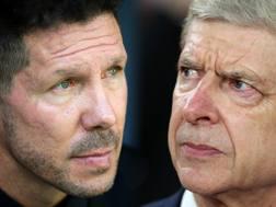 Simeone e Wenger, avversari stasera. Getty