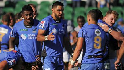 I giocatori di Western  Force nell'ultimo Super Rugby AFP