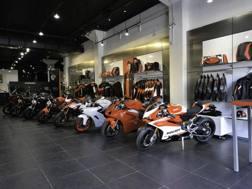 Uno scorcio del Ducati Store a New York