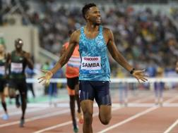 L'arrivo vincente di Abderrahman Samba sui 400 hs AFP