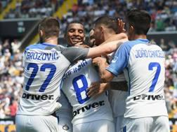 La festa dei giocatori dell'Inter. Getty