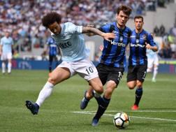 Un momento della sfida tra Lazio e Atalanta. LaPresse