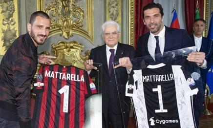 Juve e Milan al Quirinale dal Presidente della Repubblica, Sergio Mattarella. @juventusfc