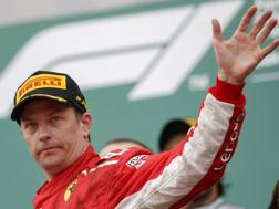 Kimi Raikkonen, campione del mondo 2007 con la Ferrari. Epa