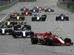 La partenza del GP a Baku. Lapresse