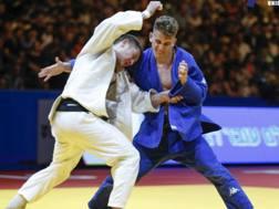 Giovanni Esposito (in blu) in gara agli Europei senior a Tel Aviv : cercherà di confermarsi campione junior