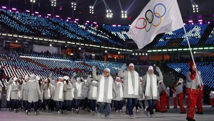 La delegazione russa ai Giochi di PyeongChang AP
