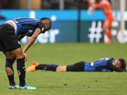 La delusione dei giocatori interisti. Getty
