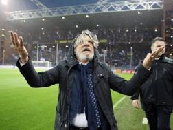 Massimo Ferrero in campo. LaPresse