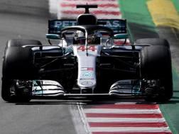 Lewis Hamilton in azione. Afp