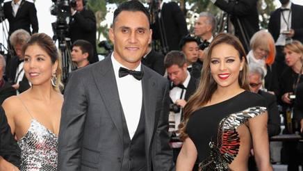 Keylor Navas a Cannes con la moglie. Getty