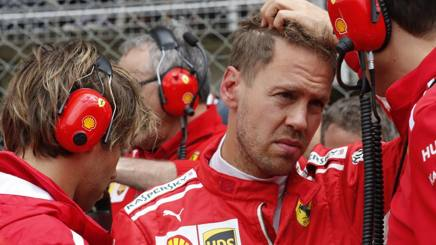 Un Sebastian Vettel pensieroso al Montmelò. LaPresse