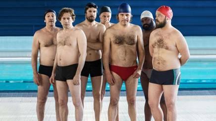 Gli attori di Le Grand Bain, la commedia di Gilles Lellouche, presentata al Festival di Cannes.