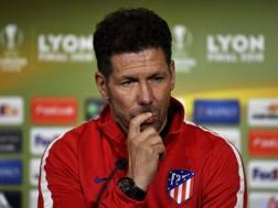 Diego Pablo Simeone, tecnico dell'Atletico Madrid. Ap