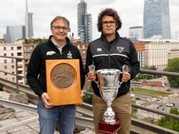 I due tecnici delle finaliste: Massimo Brunello (Calvisano) e Andrea Marcato (Petrarca)