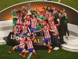 La gioia dei giocatori dell'Atletico Madrid. Getty