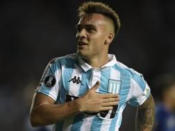 Lautaro Martinez, 20 anni, con la maglia del Racing Club de Avellaneda.