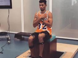 Una foto postata da Wayde Van Niekerk su Instagram durante la rieducazione
