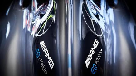 Il logo Mercedes per la Formula E