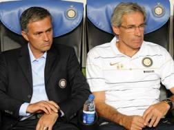 José Mourinho e Beppe Baresi. LAPRESSE