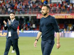 L'allenatore del Benevento Roberto De Zerbi, 38 anni. Ansa