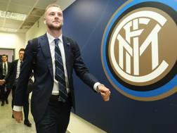 Il difensore dell'Inter  Milan Škriniar, 23 anni. Getty