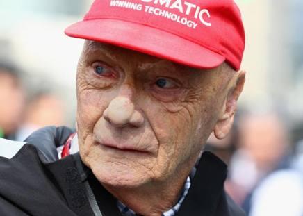 Niki Lauda, 69 anni, tre volte campione del mondo di F.1 con Ferrari (1975-77) e McLaren-Porsche (1984), oggi responsabile Mercedes GETTY